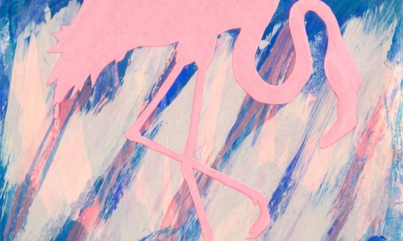 Screen Prints New flamingos 8 -9