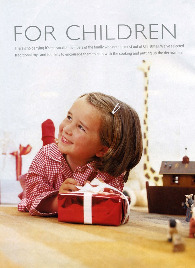 Homes and Gardens Christmas Supplement, childrens christmas,  Styling Rebecca de Boehmler