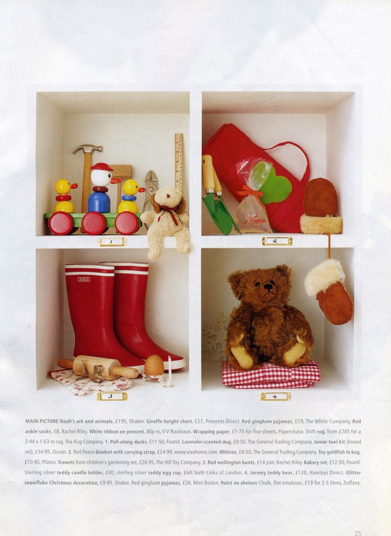 Homes and Gardens, Christmas Supplement. Styling Rebecca de Boehlmer