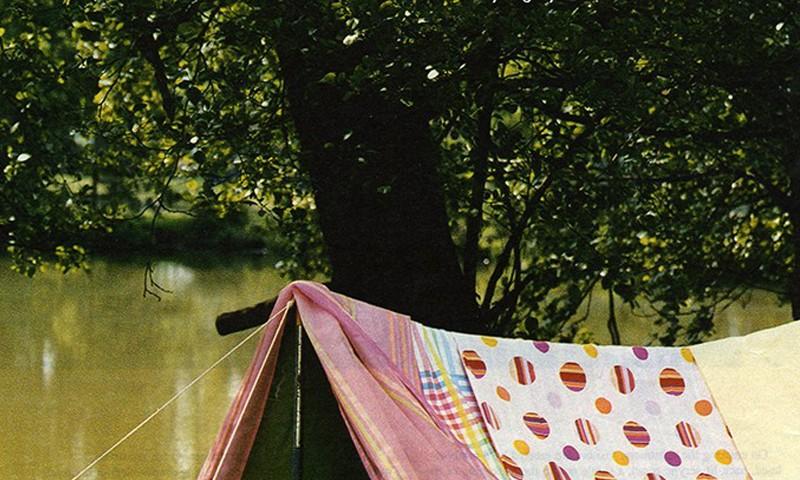 Editorial- tent, Bedlinen