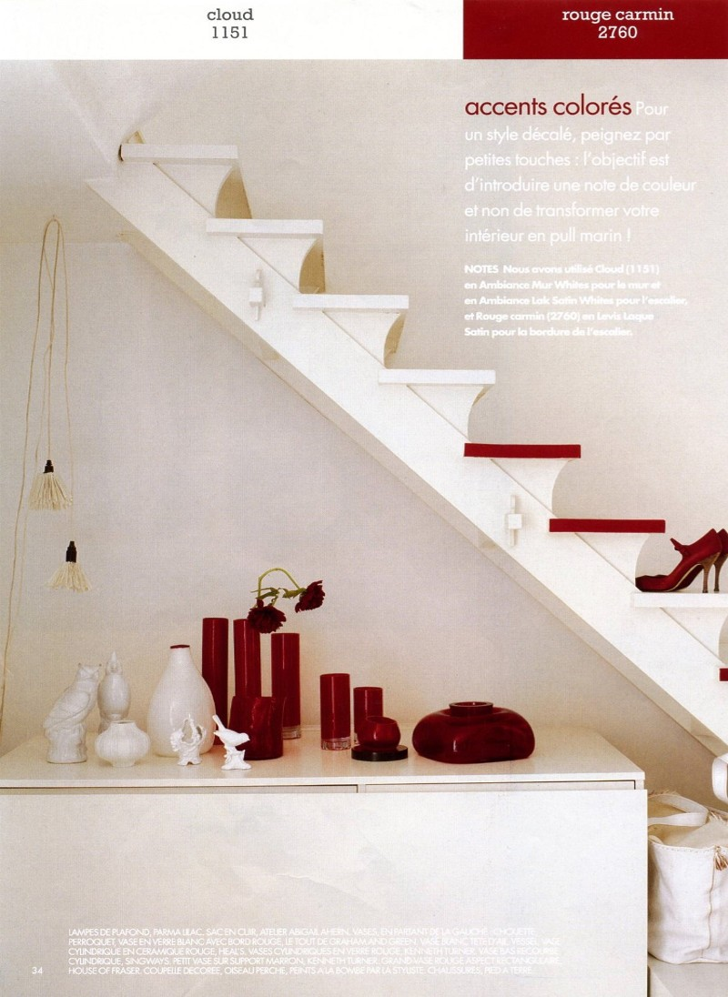 Crown paints magazine- Pops of red interior