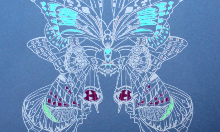 Butterfly dark blue- blue