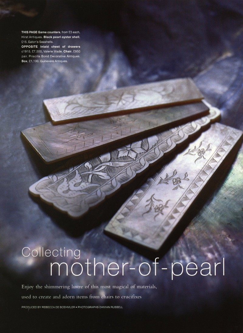 Homes and Gardens – Mother of Pearl feature