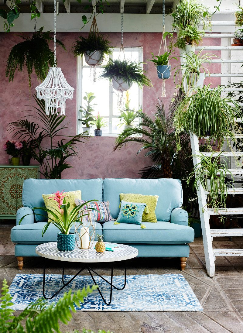 Matthew Williamson Home for Debenhams Home-  sofa shoot