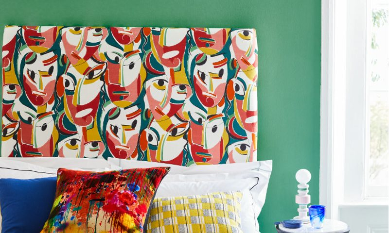 livingetc/ Cubist story/ faces headboard/ bedroom