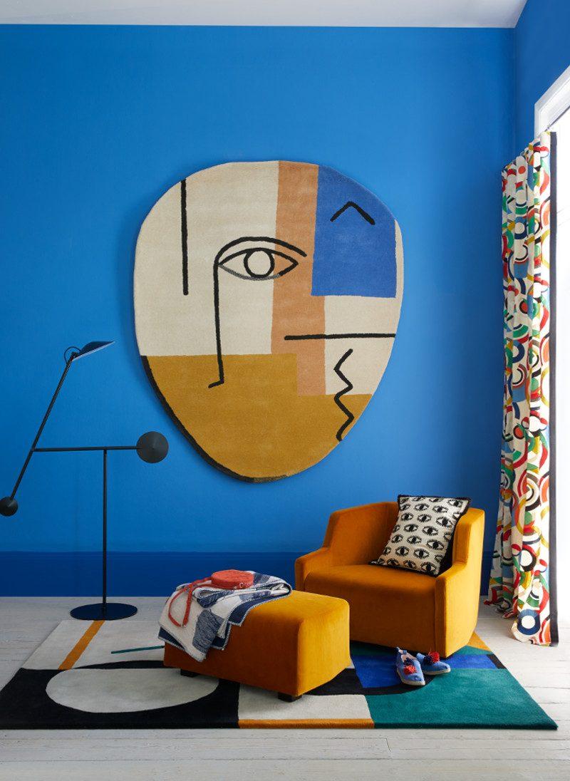 Bold carpet wall hanging for Livingetc