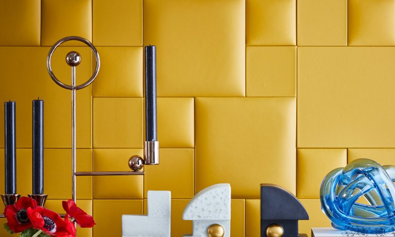 Livingetc/ Cubist story/leather yellow wall/Simon Bevan
