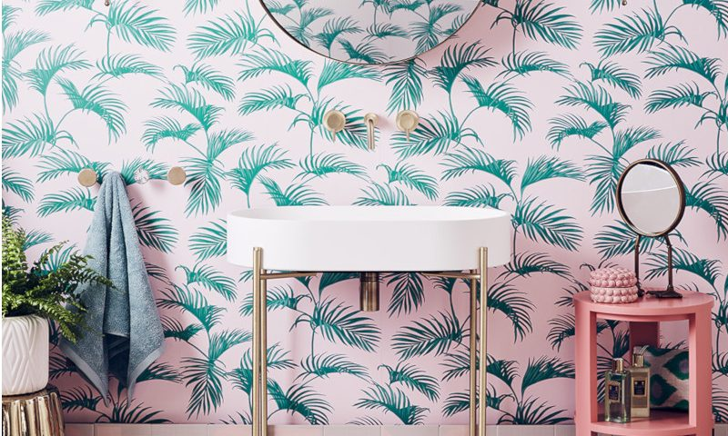 Miami inspired – Bathroom palms