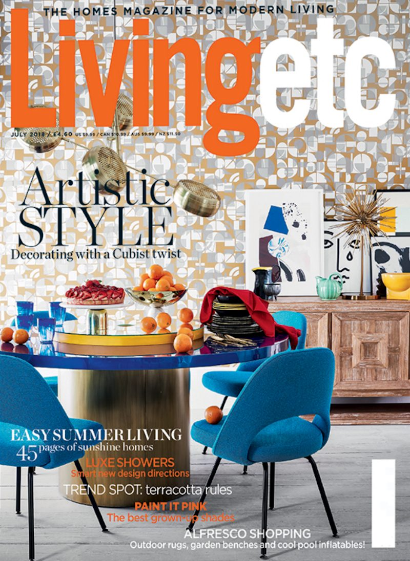 Livingetc cover from Cubist style shoot.