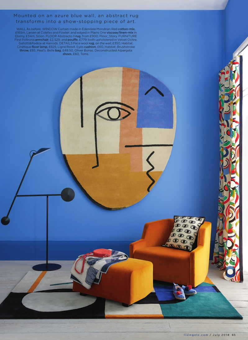Abstract art style wall hanging