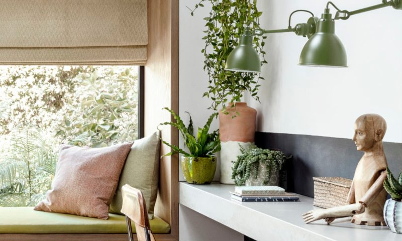 Hillary Blinds Styling  details- home office